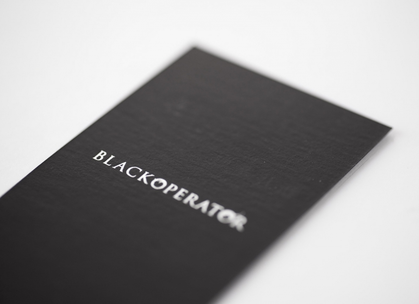 BLACKOPERATOR name card
