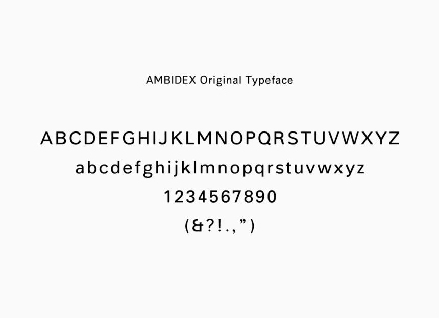 AMBIDEX Original Typeface