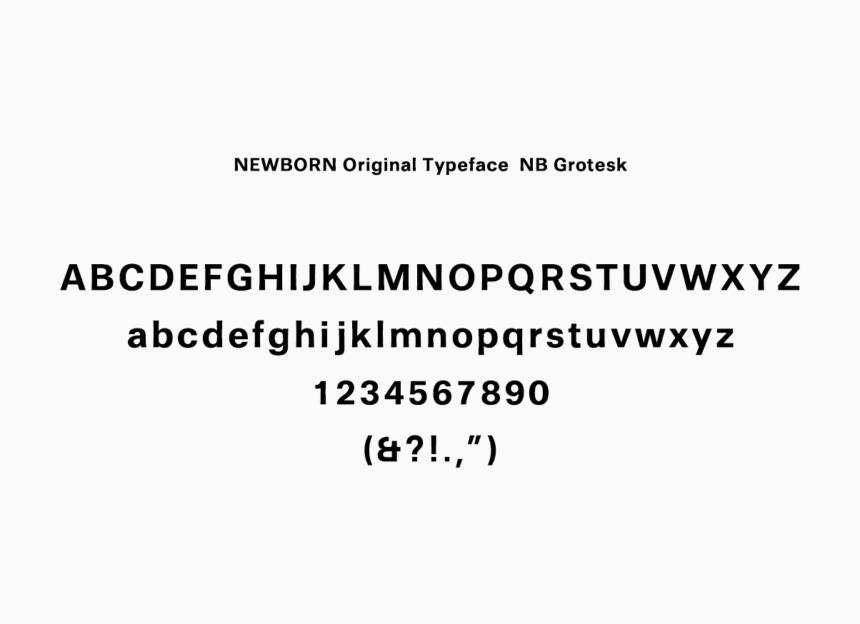 NEWBORN original typeface