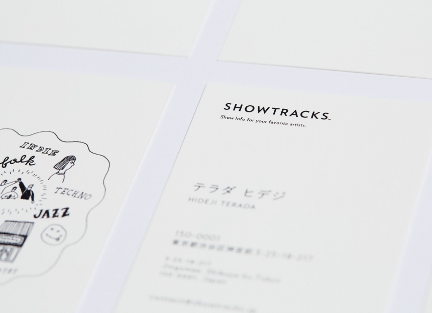 SHOWTRACKS name card