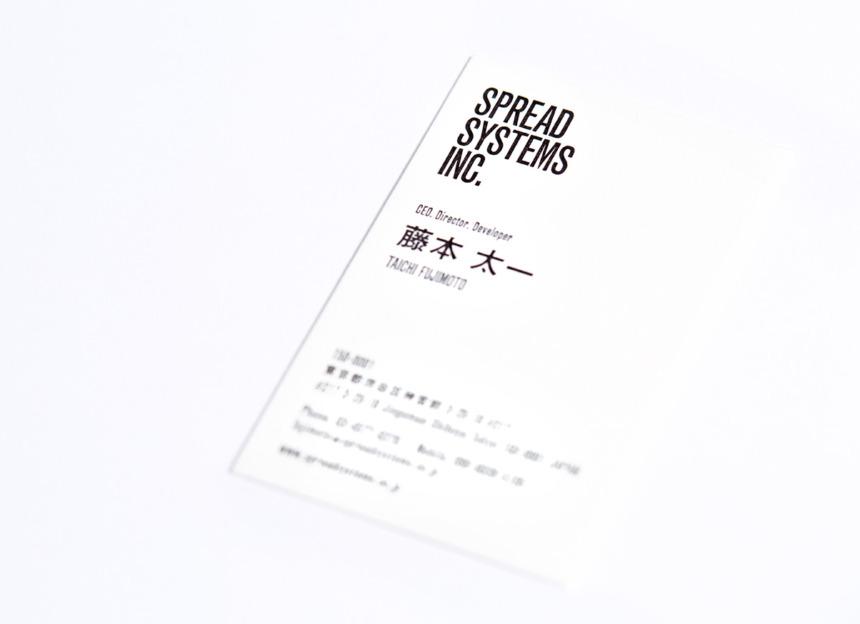 SPREAD SYSTEMS INC. name card